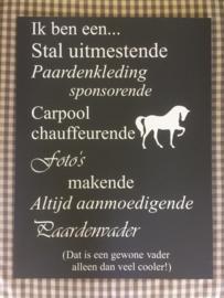 Tekstbord 'Paardenvader'