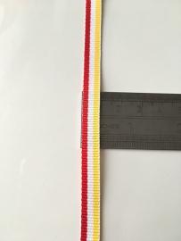 Oeteldonks Rood-Wit-Geel lint 8mm (Medaille lint)