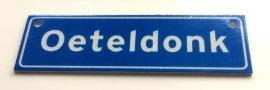 Oeteldonk (metalen plaatje 2,5x8cm)