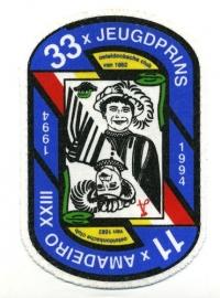 33 x Jeugdprins 11x Amadeiro (Jaarembleem 1994)