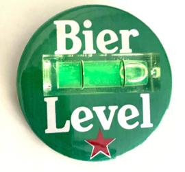 Bier level - Button met waterpas (4,5cm)