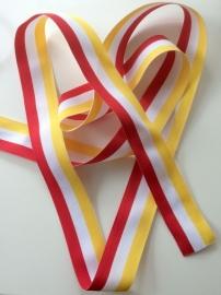 Oeteldonks Rood-Wit-Geel lint 40mm