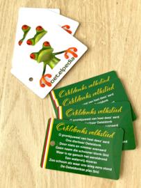 Oeteldonks Volkslied op plastic card (ca 8,5 x 5,5 cm)