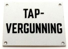 TAP-Vergunning (metalen plaatje 7x5cm)
