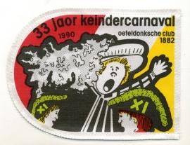 33 Jaor Keindercarnaval (Jaarembleem 1990)