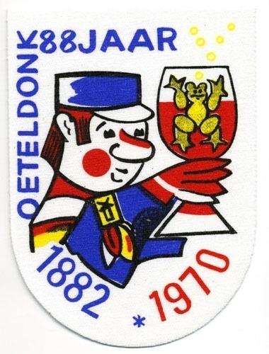 Oeteldonk 88 jaar 1882 - 1970 (Jaarembleem 1970)
