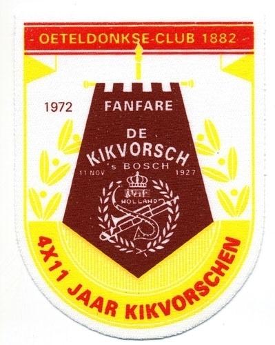 4 x 11 jaar Kikvorschen (Jaarembleem 1972)