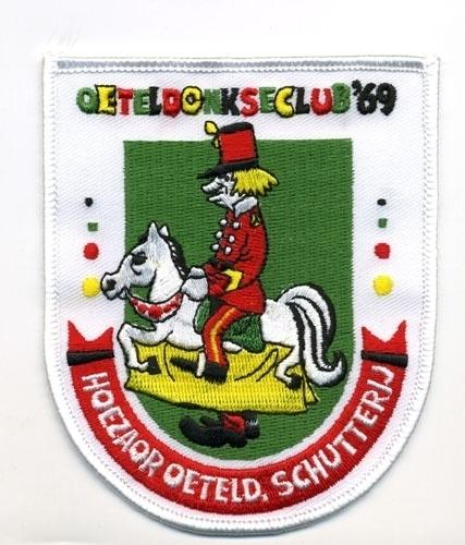 Hoezaor Oeteld, schutterij (Jaarembleem 1969)