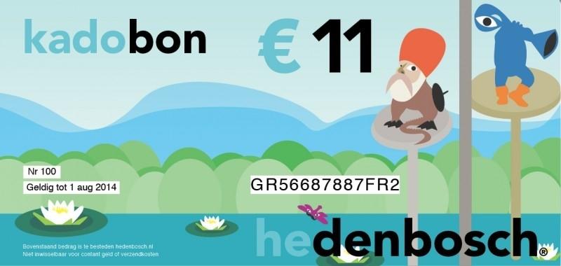 Kadobon hedenbosch 11 euro