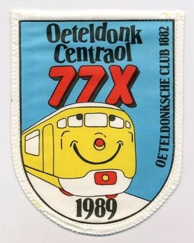 77 x Oeteldonk centraol (Jaarembleem 1989)