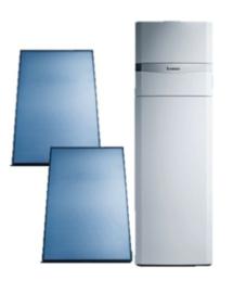 Vaillant pakket AuroCompact VSC-D-206 + 2 verticale panelen