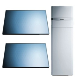 Vaillant pakket AuroCompact VSC-D-206 + 2 horizontale panelen