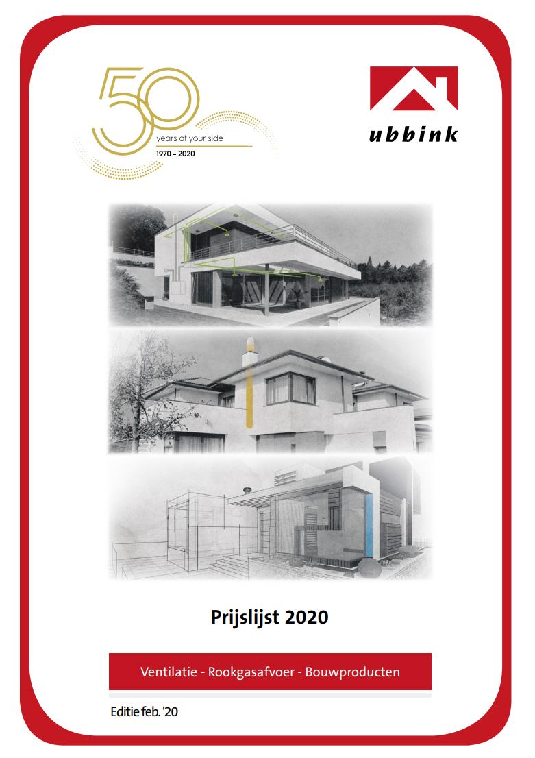 Download de prijslijst van Ubbink 2018