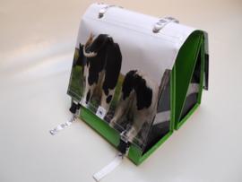 Dubbele fietstas met foto koeien