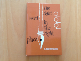 The right word in the right place - C. Bleijenberg
