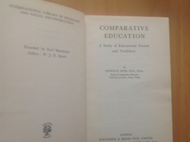 Comparative education - N. Hans