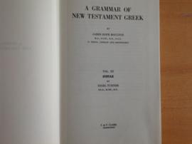A grammar of New Testament Greek - J. H. Moulton