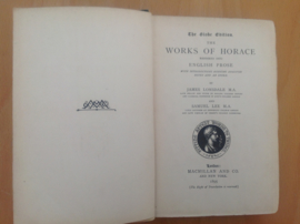 The globe edition. The works of Horace - J. Lonsdale / S. Lee