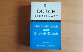 Dutch Dictionary Dutch-English and English-Dutch - F.G. Renier