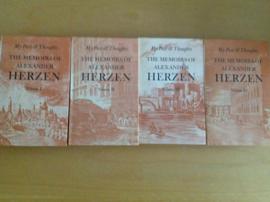 My past and thoughts. The memoirs of Alexander Herzen, compleet, 4 delen in een cassette