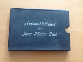 Automobielkaart der Java Motor Club van Java en Madoera + oude landkaart van Oost-Java
