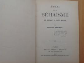 Essai sur le Behaïsme son histoire, sa portee sociale - H. Dreyfus