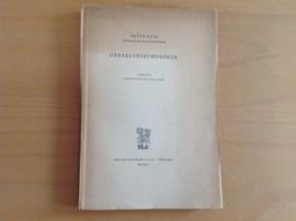 Gestaltpsychologie - D. Katz