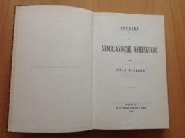 Studiën in Nederlandsche Namenkunde - J. Winkler