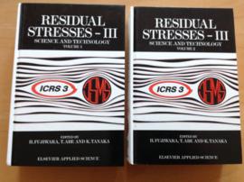 Residual Stresses - III; set van 2 volumes:  1 en 2 - H. Fujiwara / T. Abe / K. Tanaka