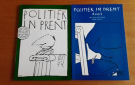 Set a 2x Politiek in prent - H. IJsselstein Mulder / J. van de Weijer / A. de Ranitz