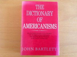 Dictionary of Americanisms - J. Bartlett