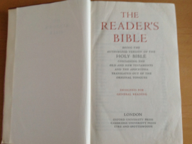 The Reader's Bible being the authorized version of the Holy Bible