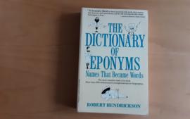 The Dictionary of Eponyms - R. Hendrickson