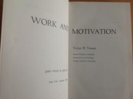 Work and motivation - V.H. Vroom