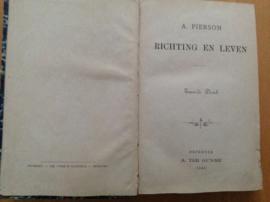 Richting en leven - A. Pierson