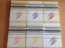 Pakket a 6x Woord in beweging , deel 1 t/m 6 - J.H. van der Laan / A.F.J. Klijn / E. Noort