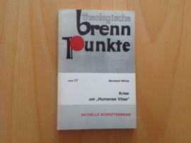 """Krise um """"Humanae Vitae"""" - B. Häring"""