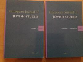 European Journal of Jewish Studies, volume 1 en 2