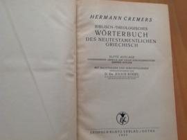Biblisch-theologisches Wörterbuch des neutestamentlichen Griechisch - H. Cremers