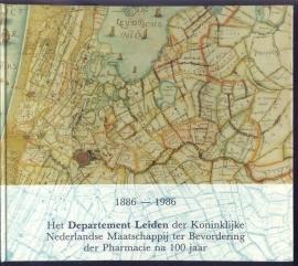1886-1986 Het Departement Leiden der Koninklijke Nederlandse Maatschappij ter Bevordering der Pharmacie  na 100 jaar