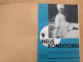 Ingebonden maandbladen Neue Konditorei 1938 (compleet)