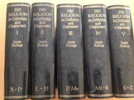 Pakket a 5 delen Die Religion in Geschichte und Gegenwart - A. Bertholet / H. Faber / H. Stephan