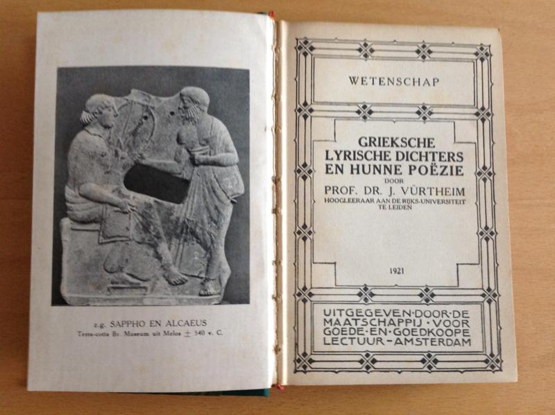 Grieksche lyrische dichters en hunne poëzie - J. Vürtheim
