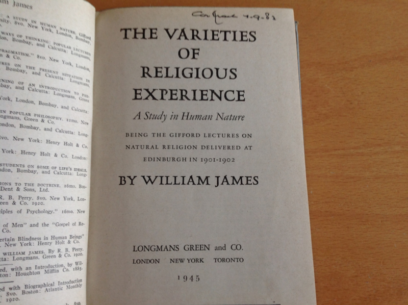 The varieties of religious experience - W. James