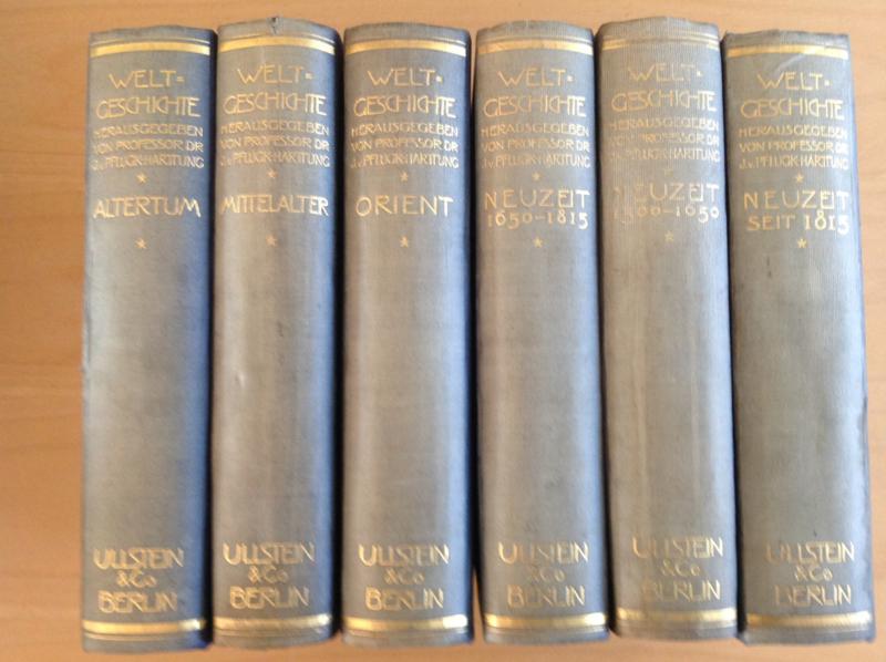 Pakket a 6 delen Ullsteins Weltgeschichte - J. von Pflugk-Harttung