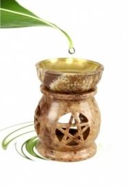 olie verdamper pentagram zeepsteen