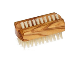 Olijfhout - nagelborstel klein