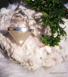 Pendel bergkristal met maansteen