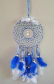 Hand-made Dromenvanger Blauw 22cm met Beschermengel