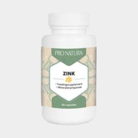 Pro-Natura Zink 25 mg. 60 caps.